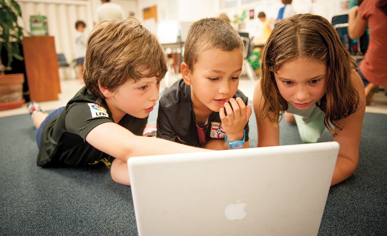 Kids on a laptop
