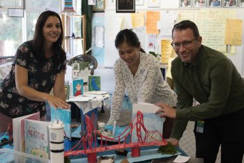 teachers working together in classroom