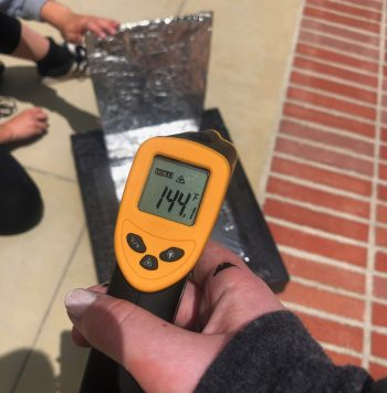 thermometer and solar oven